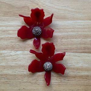 Lele Sadoughi Jewelry - NWOT Lele Sadoughi Small Crystal Lily Earring